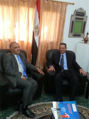 زيارة رئيس الأكاديمية للمركز الثقافي المصري