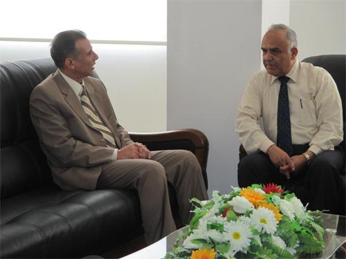 زيارة المستشار الثقافي لسفارة جمهورية مصر العربية الشقيقة إلى الأكاديمية