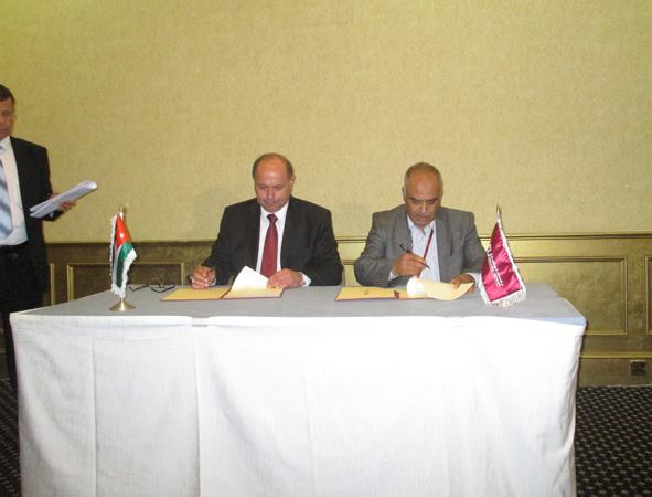 التوقيع على إتفاقية تعاون ثنائي بين الأكاديمية و جامعة الشرق الأوسط