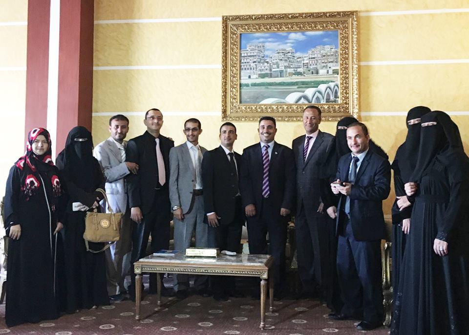 البرنامج التدريبي الأول لطلبة برنامج ماجستير الدبلوماسية والعلاقات الدولية بالأكاديمية اليمنية للدراسات العليا في وزارة الخارجية اليمنية.